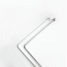 Штанга угловая для шторы в ванную, 80 х 170, цвет белый