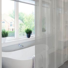 Штора для ванной Meiwa Metro, 182 х 182 см, цвет прозрачный