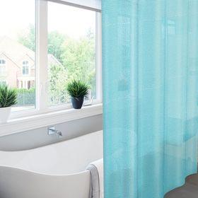 Штора для ванной Meiwa Pebbles, 182 х 182 см, цвет синий
