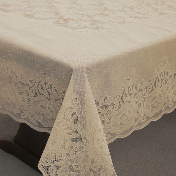 Скатерть столовая «Ажурная» Gloria, 152 х 264 см, 10 шт в рулоне, сепия