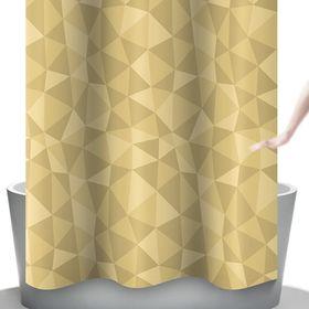 Штора для ванной Diamante, цвет бежевый