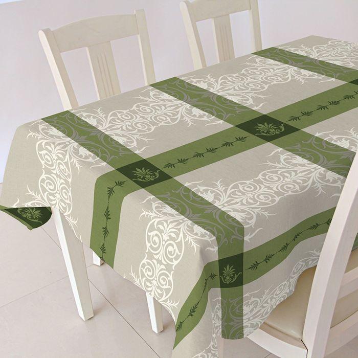 """Скатерть """"ALBA"""" Анет, 140х180 см, зеленый"""