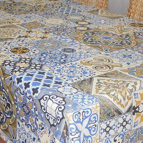 "Скатерть ""ALBA"" Мозаика, 140х180 см, синий"