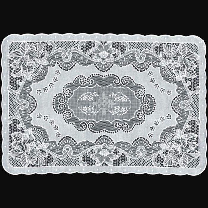 Салфетка «Ажурная» Canna, 30 х 45 см, цвет белый