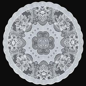 Салфетка «Ажурная» Canna, d=40 см, цвет белый
