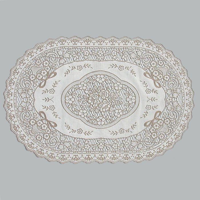 Салфетка «Ажурная» Grace, 30 х 45 см, цвет бежевый