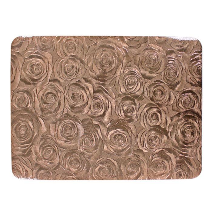 Салфетка на стол «Роза», кофе, 30 х 40 см