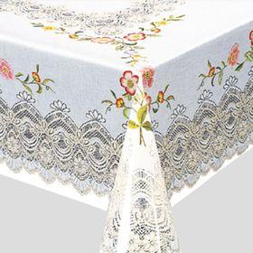 Скатерть Meiwa «Гирлянда», 120 x 150 см, в рулоне 20 шт, цвет розовый