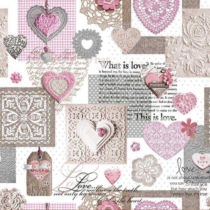 Клеёнка столовая Future «Это Любовь», 140 см, рулон 20 пог. м., цвет розовый