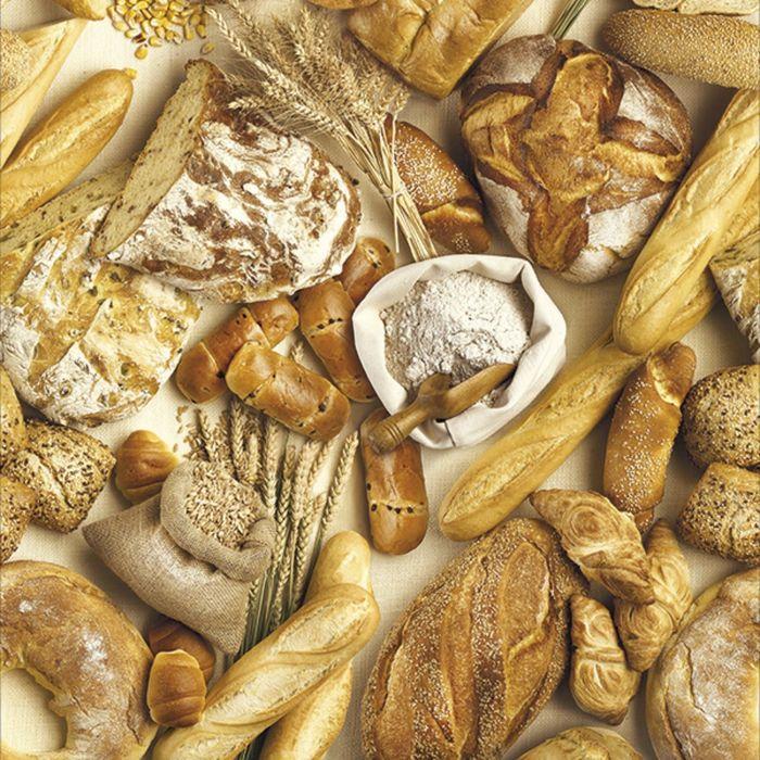 Клеёнка столовая Photoprint «Хлеб», 140 см, рулон 20 пог. м