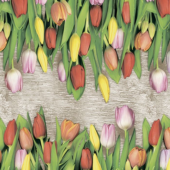 Клеёнка столовая Photoprint «Тюльпаны», 140 см, рулон 20 пог. м