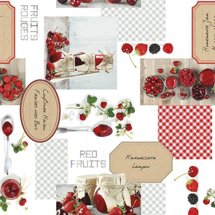 Клеёнка столовая Photoprint «Фрукты-ягоды», 140 см, рулон 20 пог. м