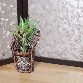 Витражная плёнка Meiwa, 46 см, рулон 20 п.м., прозрачная