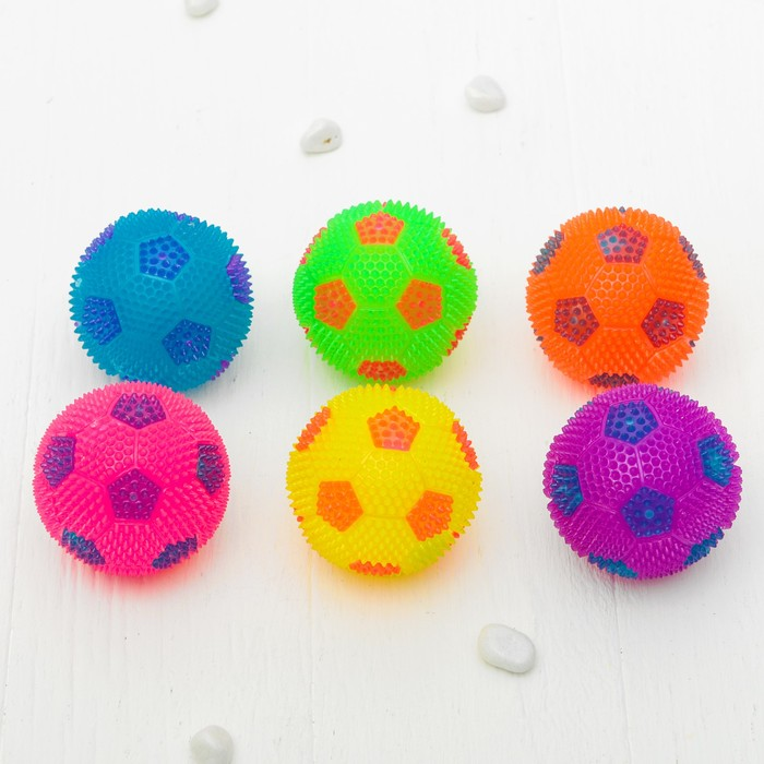 """Мяч световой """"Футбол""""6,5 см, цвета МИКС"""