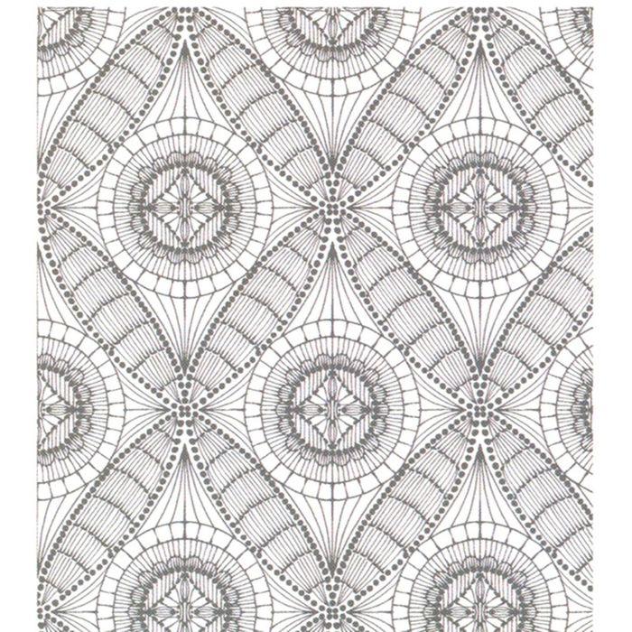 Клеёнка столовая Wondertex «Муар», ширина 140 см, рулон 20 м, цвет серый