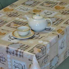 Клеёнка столовая Sale & Pepe «Чайный», 140 см, рулон 20 пог. м