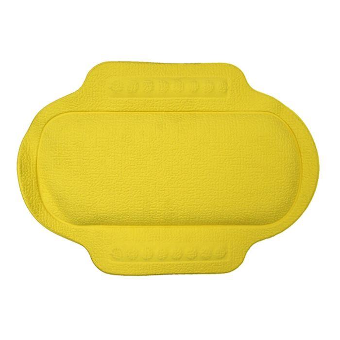Подголовник в ванну, 25х34 см, желтый