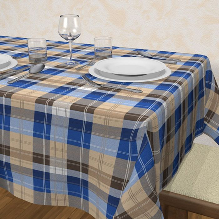 Клеёнка Orizzonti «Квадретто», 140 см, рулон 25 пог. м., цвет синий