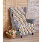 """Накидка на кресло """"Этель"""" Лабиринт 70х160 ± 2 см"""