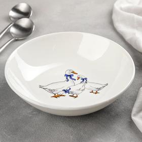 Тарелка суповая Кубаньфарфор «Гуси», 330 мл