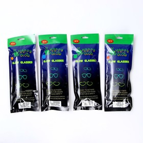 Неоновые очки «Сердечки», цвета МИКС - фото 7377405