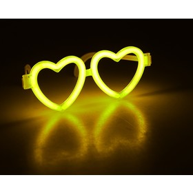Неоновые очки «Сердечки», цвета МИКС - фото 7377406