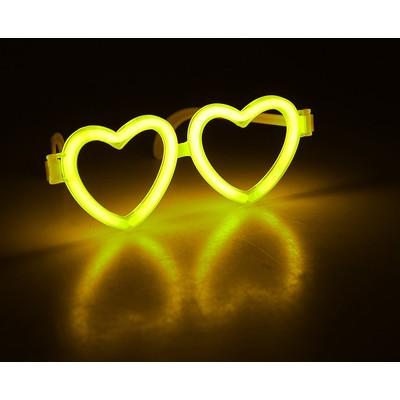 Неоновые очки «Сердечки», цвета МИКС
