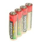 Батарейка Алкалиновая  Camelion Plus Alkaline, AAA, LR03-4S, спайка, 4 шт.