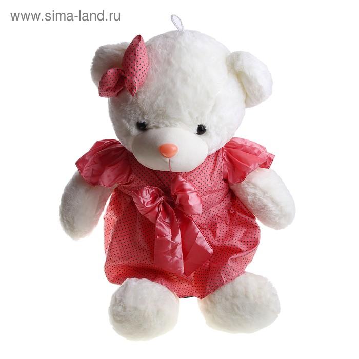 """Мягкая игрушка """"Мишка"""" в розовом платье на ушке бант"""