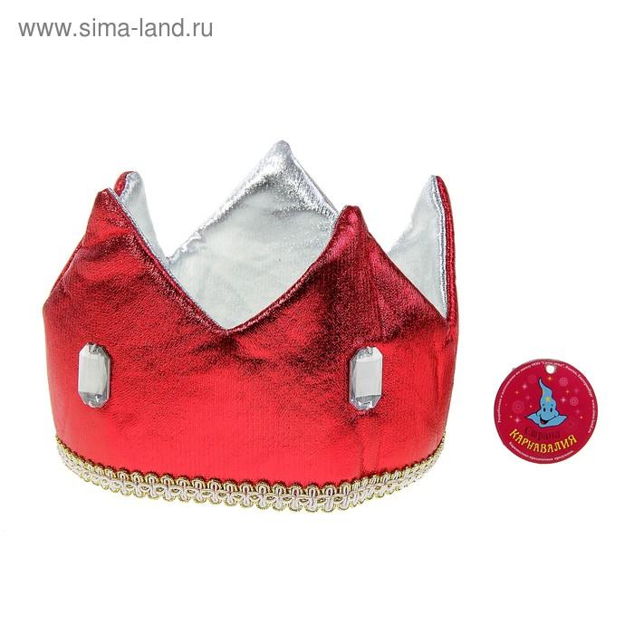 Карнавальная корона красная