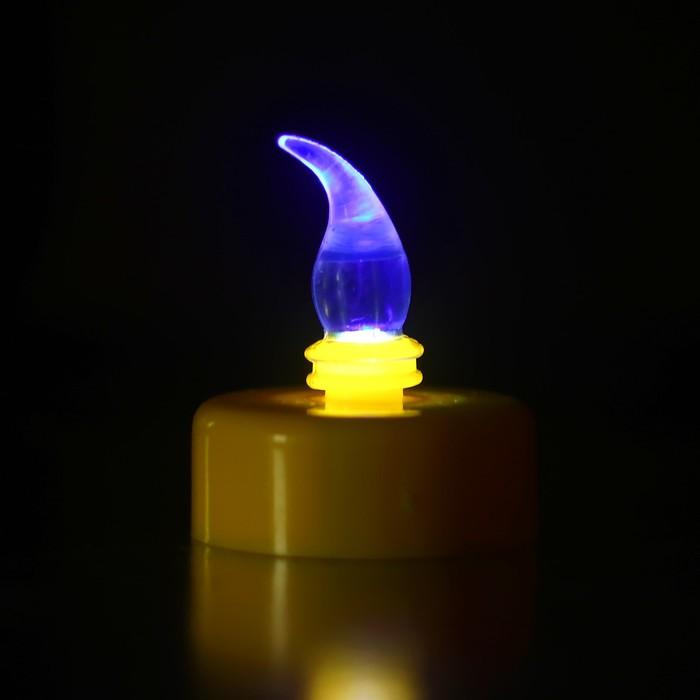 Свеча светодиодная, цвета МИКС