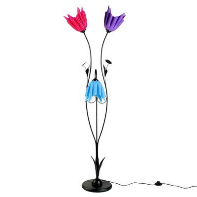"""Светильник напольный 8833/3 """"Разноцветные тюльпаны"""" Е27 40W 145х30х20 см"""