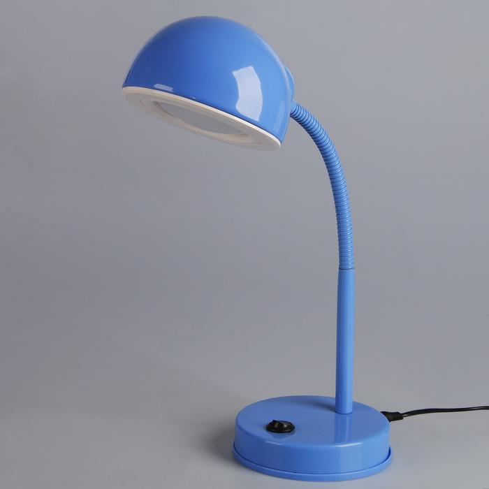 Светильник настольный LED 5 Вт синий 12,5х12,5х44 см