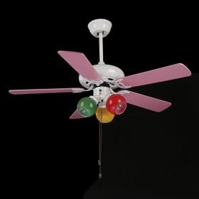 """Светильник вентилятор """"Сирокко"""" E27 3х40Вт бел./роз.105х105х45 см"""