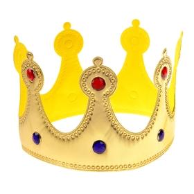 Корона «Королева», со стразами, цвет золотой