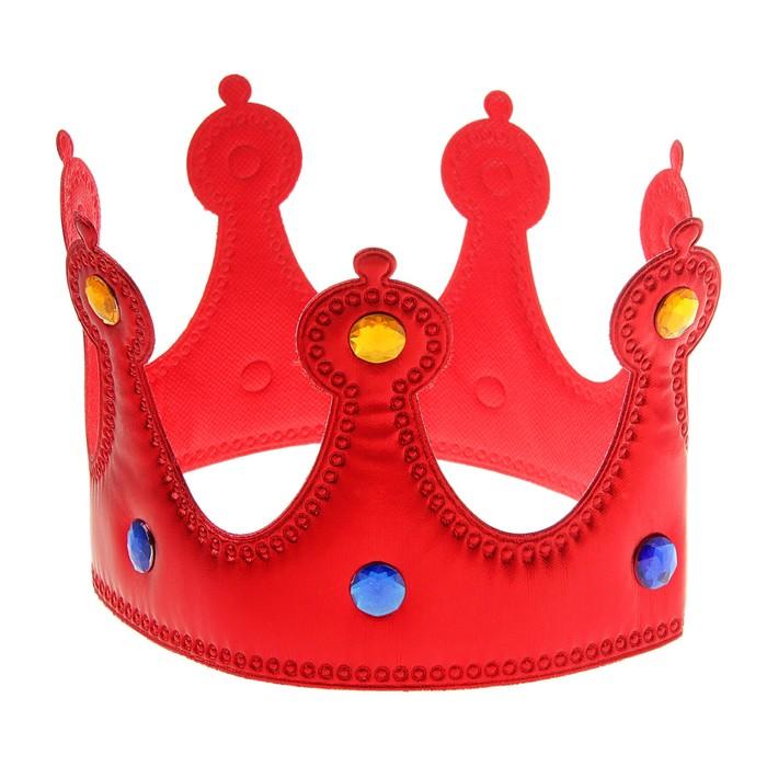 Корона «Королева», красная, со стразами - фото 448130