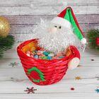 "Конфетница ""Дед мороз"" с елочкой"