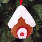 """Новогодняя ёлочная игрушка, Набор для создания подвески из фетра """"Снежный домик"""""""