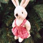 """Новогодняя ёлочная игрушка, Набор для создания подвески из меха """"Зая"""""""