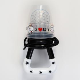 Ниблер для прикорма «Rock Baby», с силиконовой сеточкой, цвет черно-белый
