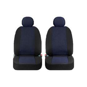 Чехлы универсальные на передние сиденья, жаккард, черно-синие