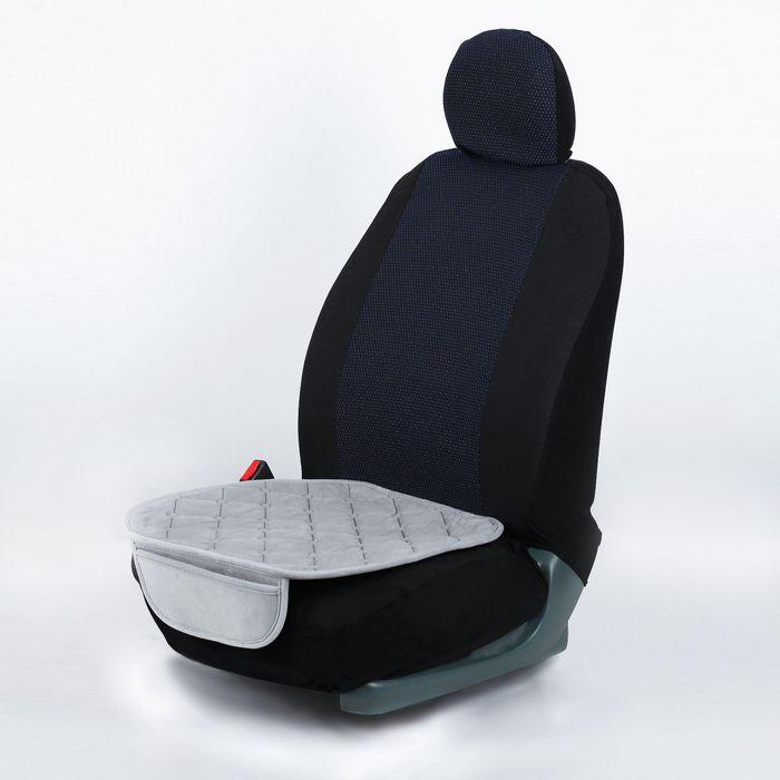 Накидка текстильная на автомобильное сиденье, 50 х 52 см, серая