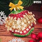Новогодний ёлочный шар с пайетками №3