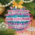 Новогодний ёлочный шар с пайетками №5