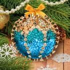 Новогодний ёлочный шар с пайетками №7