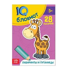 Блокнот IQ 'Лабиринты и путаницы' 28 заданий 12 х 17 см 32 страницы Ош