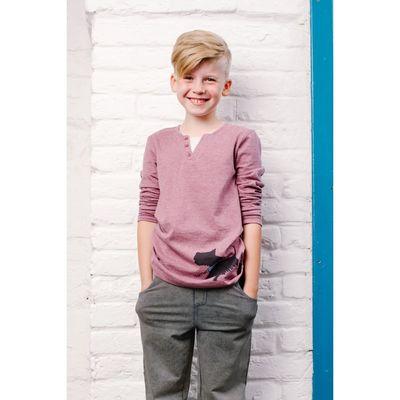 Джемпер для мальчика, рост 140 см, цвет сиреневый 152-316-14