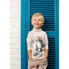 Водолазка для мальчика, рост 80 см, цвет серый 152-318-02