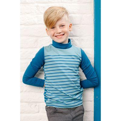 Водолазка для мальчика, рост 110 см, цвет голубой 152-318-06