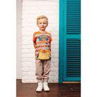 Брюки для мальчика, рост 128 см, цвет бежевый 152-327-25